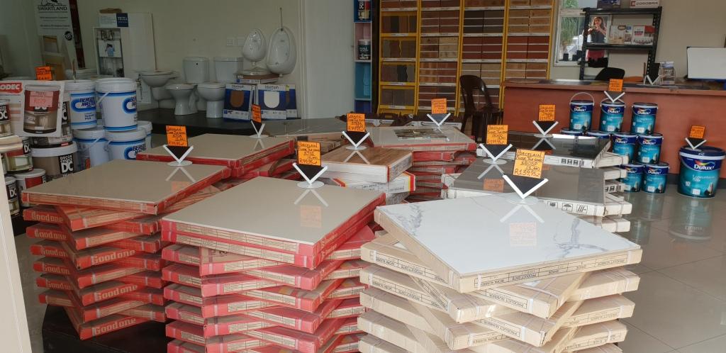 Tiles at Homebase
